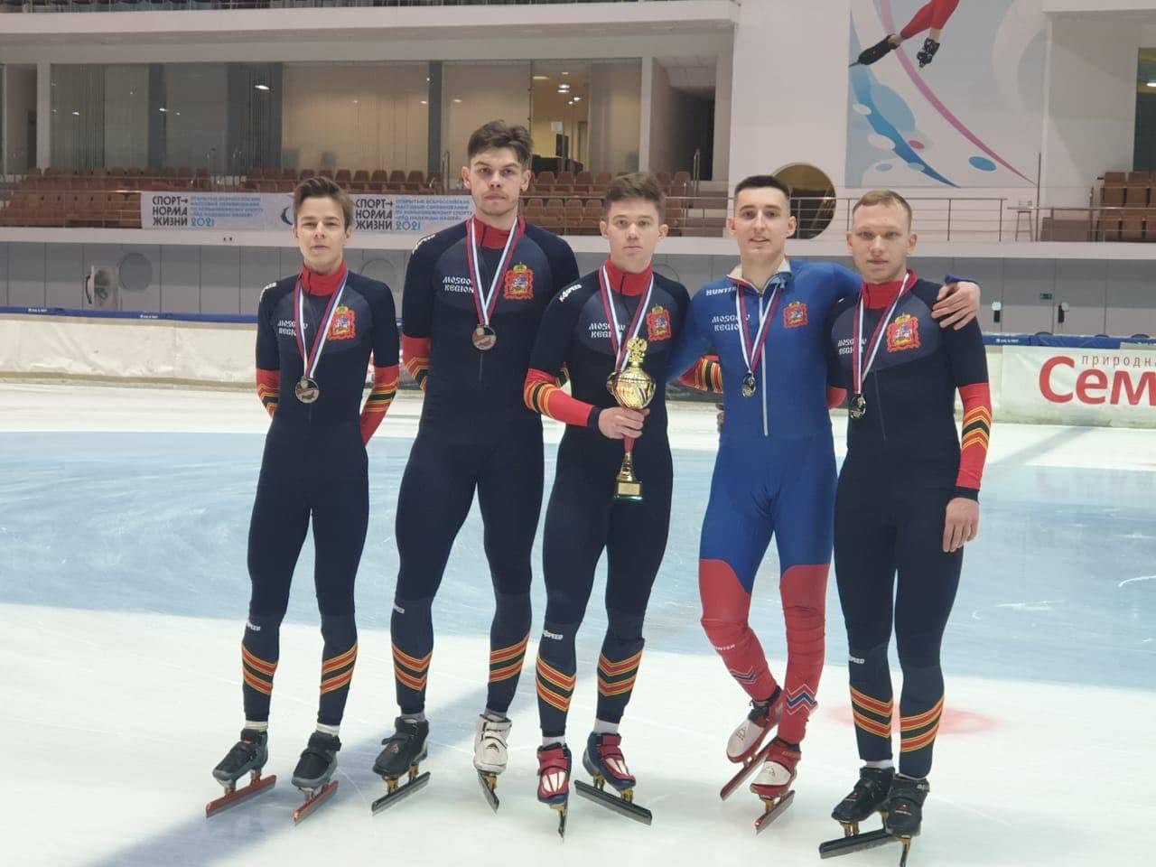 Сборная Подмосковья завоевала серебряные медали на чемпионате России по шорт-треку