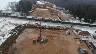 Устройство опор путепровода началось в Лобне в рамках строительства Северного обхода