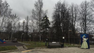 Освещение восстановили в центральном парке «Покровский» в Хотьково