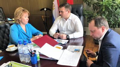 Владимир Локтев с главой г.о. Электросталь Инной Волковой