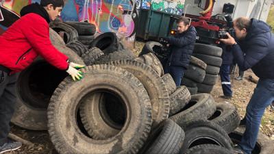 Более 9 тыс. старых автомобильных покрышек сдали жители Подмосковья за две недели экоакции