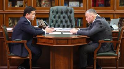 Губернатор провел рабочую встречу с главой городского округа Фрязино