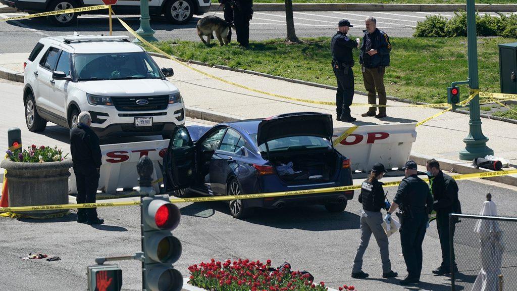 нападение на капитолий мужчина протаранил ограду и был убит