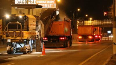 Ремонт Ильинского шоссе продолжается в Красногорске