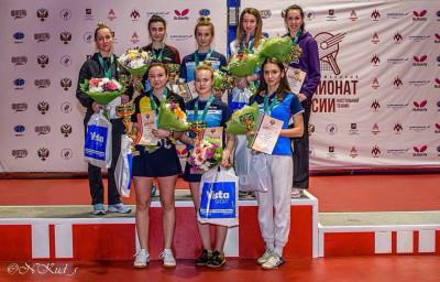 Спортсмены из Подмосковья завоевали 6 медалей на чемпионате России по настольному теннису