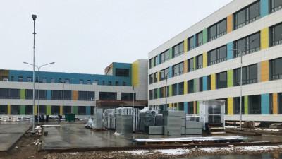 Строительная готовность школы в Клину составляет 70%