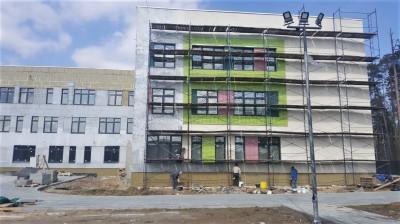 Строительство школы на 550 мест в Ликино-Дулеве ведется в графике