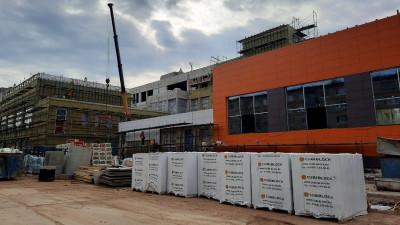Строительство школы в микрорайоне Кутузово Подольска выполнено на 55%