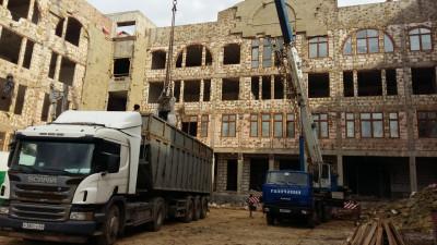 Завершение строительства школы в микрорайоне ОпалихаКрасногорска идет по графику