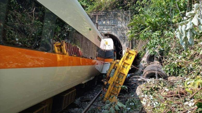 железнодорожная катастрофа на тайване минимум 48 погибших