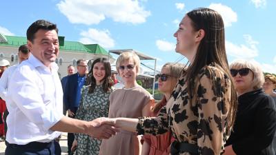 Андрей Воробьев посетил с рабочим визитом Долгопрудный
