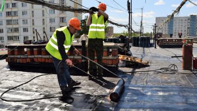 Более 50 мягких кровель капитально отремонтировали в Московской области