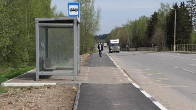 Два тротуара построили в поселке Тучково Рузского округа