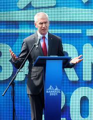 Олег Матыцин принял участие в церемонии открытия этапа Кубка мира по гребле на байдарках и каноэ в Барнауле