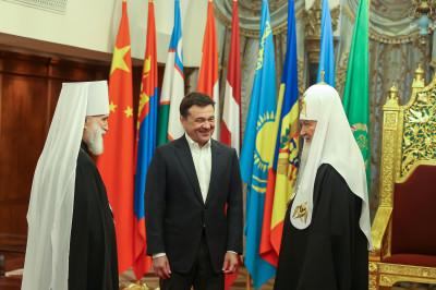 Патриарх Кирилл представил Андрею Воробьеву нового руководителя подмосковных приходов
