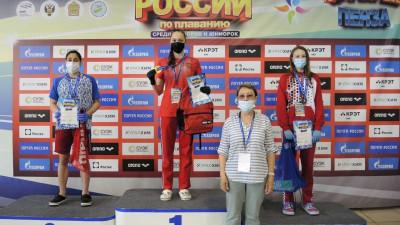Подмосковная пловчиха завоевала 4 медали на юниорском первенстве России