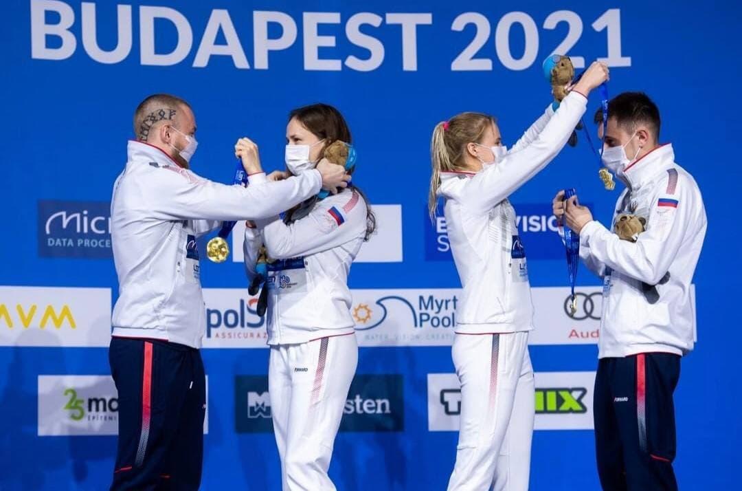 Подмосковные спортсмены завоевали две золотые и бронзовую медаль на чемпионате Европы по прыжкам в в...
