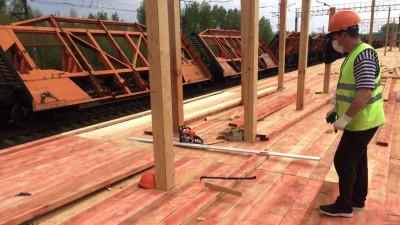 Реконструкция железнодорожной платформы началась в селе Кривандино городского округа Шатура