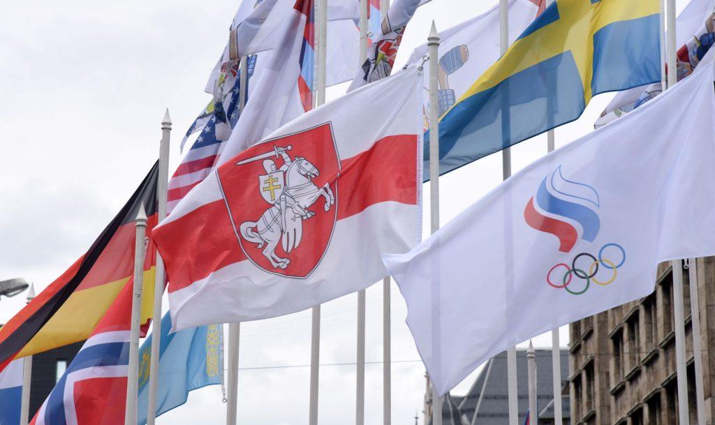 спорт снова вне политики в риге сняли российский флаг