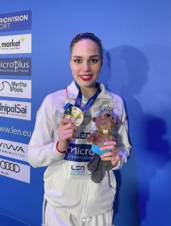 Спортсменка из Подмосковья стала обладательницей золотой награды чемпионата Европы по синхронному пл...
