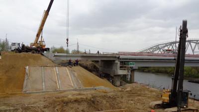 Строительная готовность нового Афанасьевского моста в Воскресенске составляет 90%
