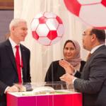Олег Матыцин посетил стенд Чемпионата мира по футболу 2022 года в Катаре на ПМЭФ