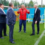 Олег Матыцин посетил тренировку сборной России по футболу в Новогорске в преддверии Чемпионата Европы
