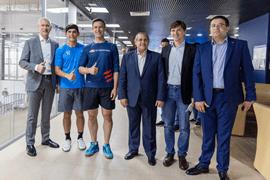 Олег Матыцин встретился с Послом Египта Ихабом Насром и посетил товарищеский матч по сквошу между командами России и Египта