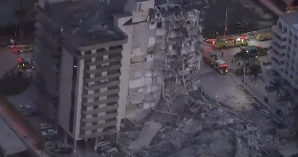 под переговоры об инфраструктурной сделке в майами рухнул жилой дом