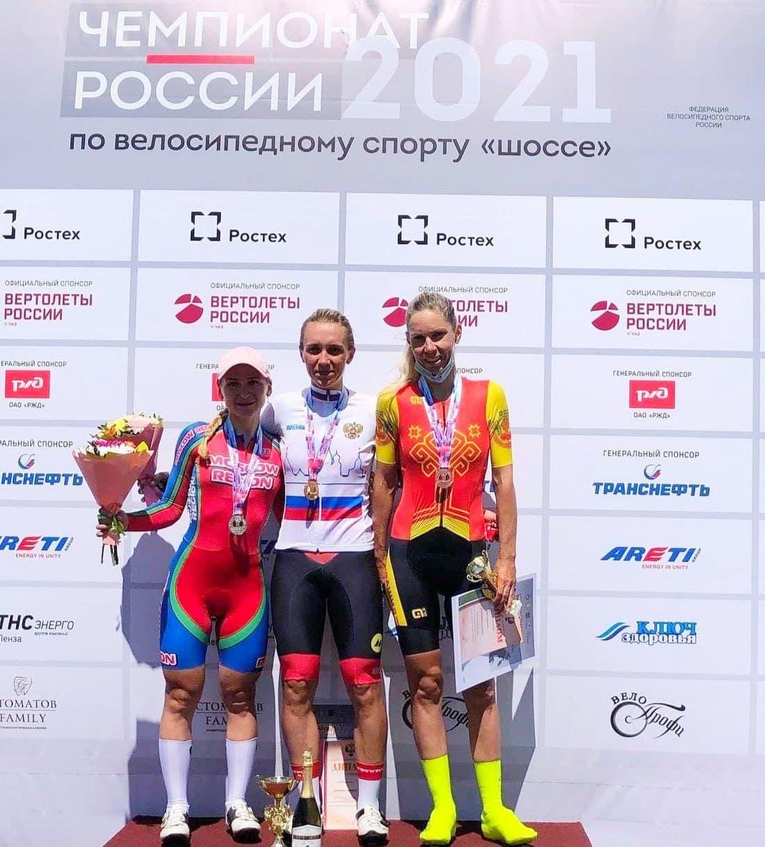 Подмосковная велоспортсменка стала серебряным призёром чемпионата России