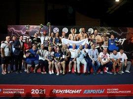Российские сумоисты победили в общекомандном зачёте Чемпионата и Первенства Европы в Казани