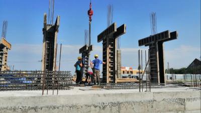 Строители приступили к возведению надземной части поликлиники в Коломне