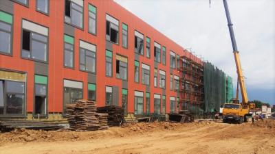 Строительная готовность школы на 400 мест в Истре составляет 50%