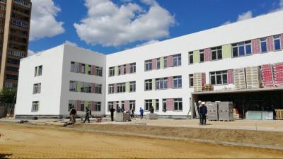 Строительство школы на 825 мест в городском округе Фрязино завершили на60%