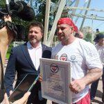 В Люберцах установили мировой рекорд, прокрутив колесо обозрения
