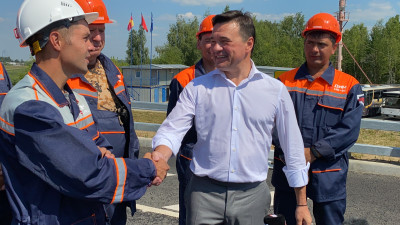Андрей Воробьев открыл движение по новому Афанасьевскому мосту в Воскресенске