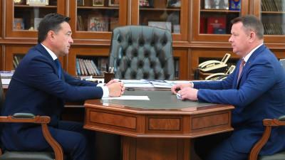 Андрей Воробьев провел рабочую встречу с главой городского округа Жуковский Юрием Прохоровым