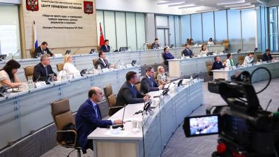 Андрей Воробьев провел видеосовещание с руководителями ведомств и главами муниципалитетов