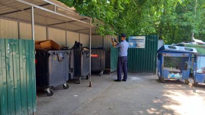 Госадмтехнадзор проверяет своевременность дезинфекции контейнерных площадок в Подмосковье
