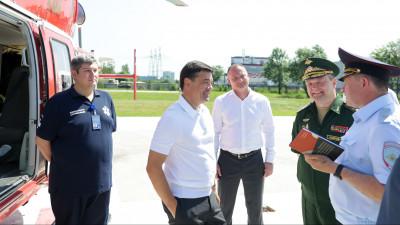 Губернатор проверил организацию взаимодействия Госавтоинспекции и ЦВКГ имени А.А. Вишневского