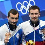 Игры XXXII Олимпиады в Токио: Александр Бондарь и Виктор Минибаев выиграли «бронзу» в синхронных прыжках в воду с вышки