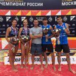 Мужская и женская команды Подмосковья по пляжному волейболу стали серебряными призёрами чемпионата России
