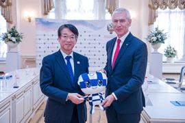 Олег Матыцин и Посол Японии в России Тоёхиса Кодзуки встретились накануне Игр XXXII Олимпиады