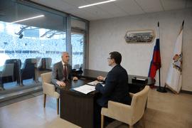 Олег Матыцин обсудил с губернатором Нижегородской области Глебом Никитиным вопросы развития спорта в регионе