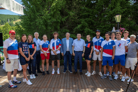 Олег Матыцин встретился с российскими олимпийцами в Южно-Сахалинске