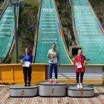 Подмосковные спортсменки дважды заняли весь пьедестал почёта на Кубке России по прыжкам с трамплина