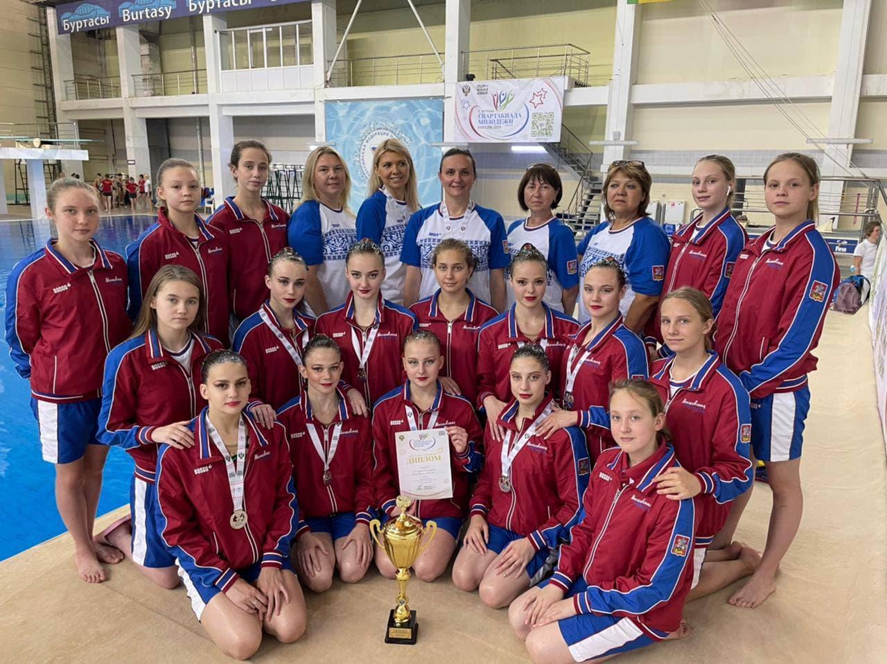 Сборная Подмосковья завоевала 40 медалей на Всероссийской Спартакиаде по синхронному плаванию