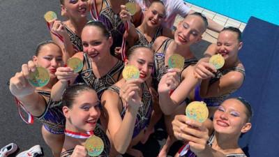 Синхронистка из Подмосковья завоевала три золотые медали на первенстве Европы