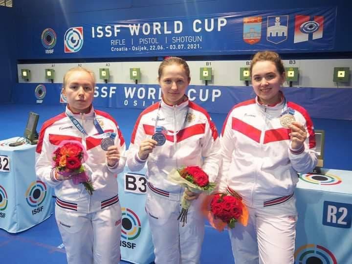 Спортсменка из Подмосковья завоевала серебро Кубка Мира по пулевой стрельбе