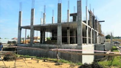 Строители приступили к возведениювторогоэтажа поликлиники в Коломне